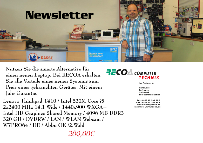Newsletter-Geb.Notebook-Lenovo-i5